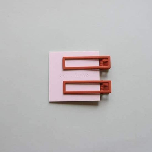 Hair Clips, Lu Lu In Burnt Orange