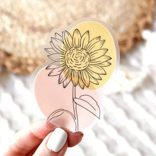 Stickers, Sunflower Outline