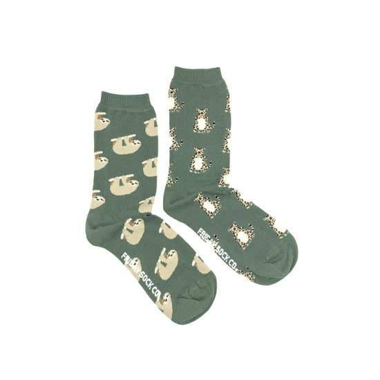 Women's Socks, Sloth & Cheetah
