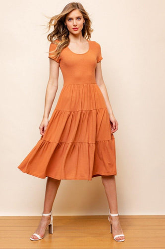 Camryn Dress, Rust