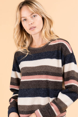 Bailey Top, Multi Stripe