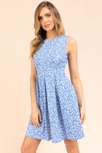 Load image into Gallery viewer, Giselle Dress, Off White/Blue