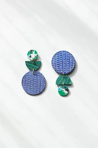 Swicheroo Clay Earrings, Rainforest