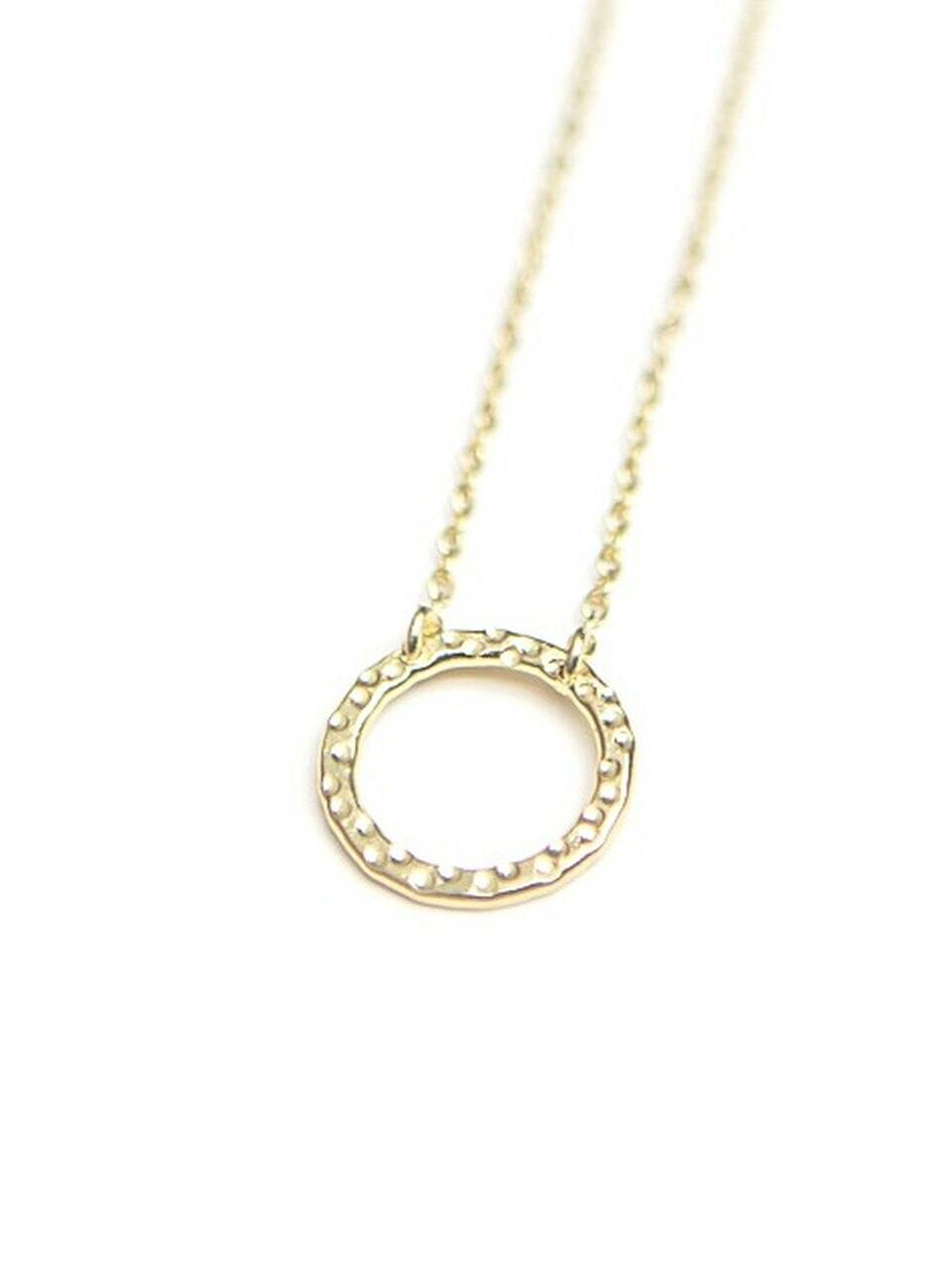 Simple Circle Necklace, Brass