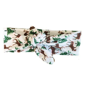 Knotted Holiday Reindeer Headband