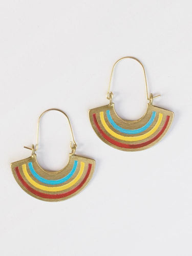 Petite Rainbow Earrings, Multi Color