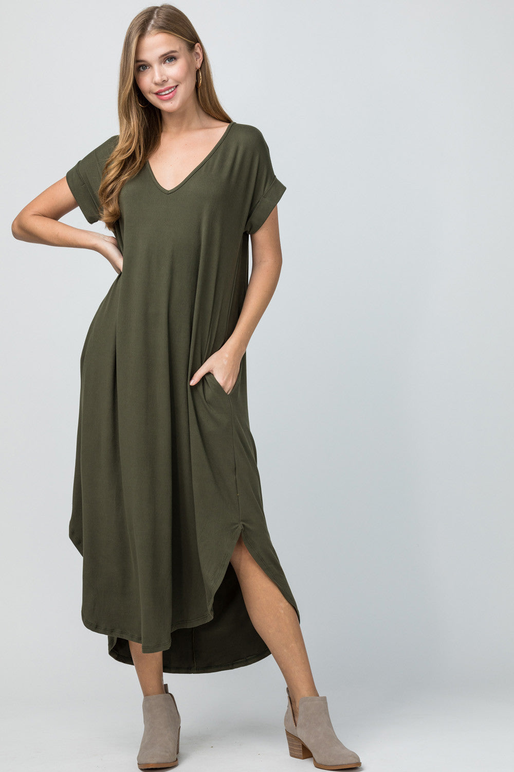 Marybeth Dress, Olive