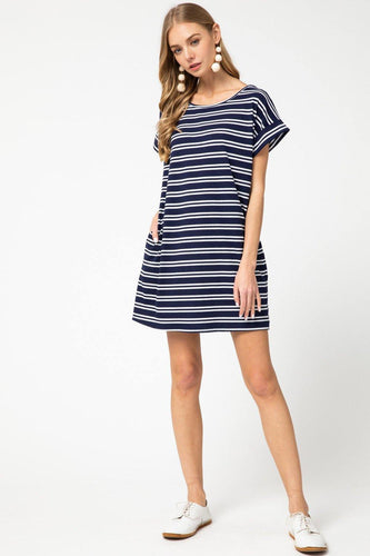 Alison Dress, Navy