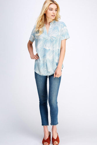 Cara Top, Dusty Blue