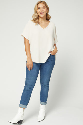 Dani Top (Curvy), Oatmeal