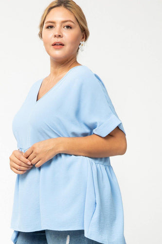 Danielle Top, Blue (Curvy)