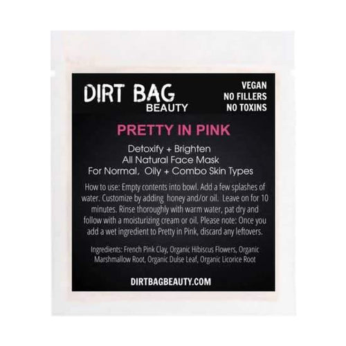 Dirt Bag Single Use Masks, Pretty In Pink