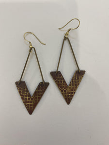 Victorious Painted Brass Earrings
