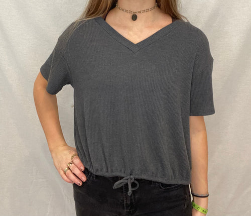 Joli Top, Heather Black