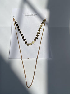 Sweeping Dot Necklace