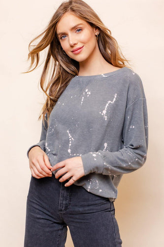 Kathryn Sweatshirt, Grey/White
