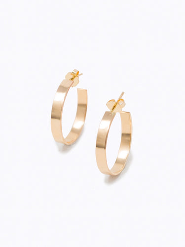 Regal Hoop Earrings, Gold