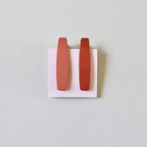 Hair Clip, Lani In Orange + Peach