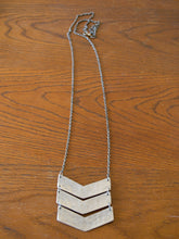 Load image into Gallery viewer, Chevron Necklace, Siver