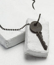 Load image into Gallery viewer, Matte Black Key Necklace, Strength