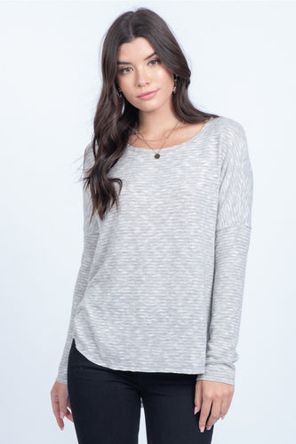 Kelsey Top, Heather Grey