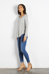 Everyday Long Sleeve Top, Heather Grey