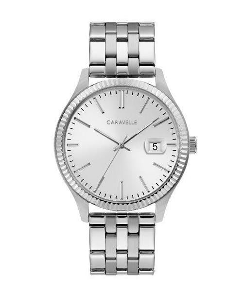 Caravelle Coin-Edge Stainless 40Mm Watch