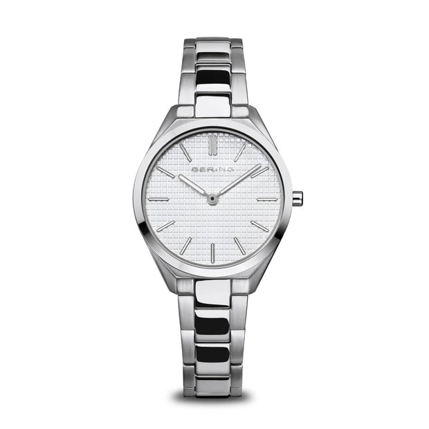 BERING Ultra Slim Brushed Stainless Steel Watch