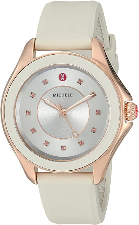 MICHELE Cape Topaz Taupe Silicon Casual Watch