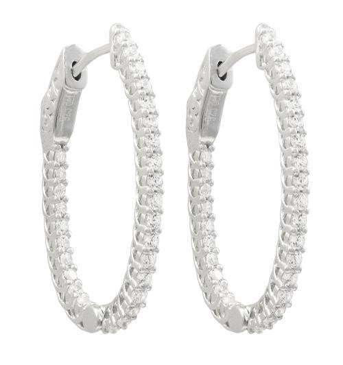 White Gold Oval 31Mm Hoops