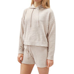 Load image into Gallery viewer, RD Style Knit Hooded Sweater in Rose
