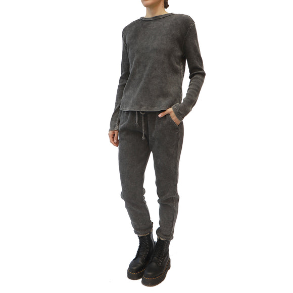 RD STYLE Black Acid Wash Joggers
