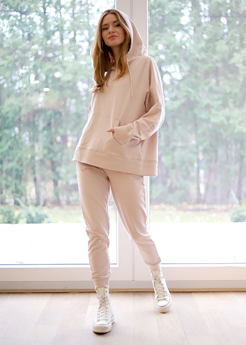 RD Style Knit Joggers in Rose Taupe