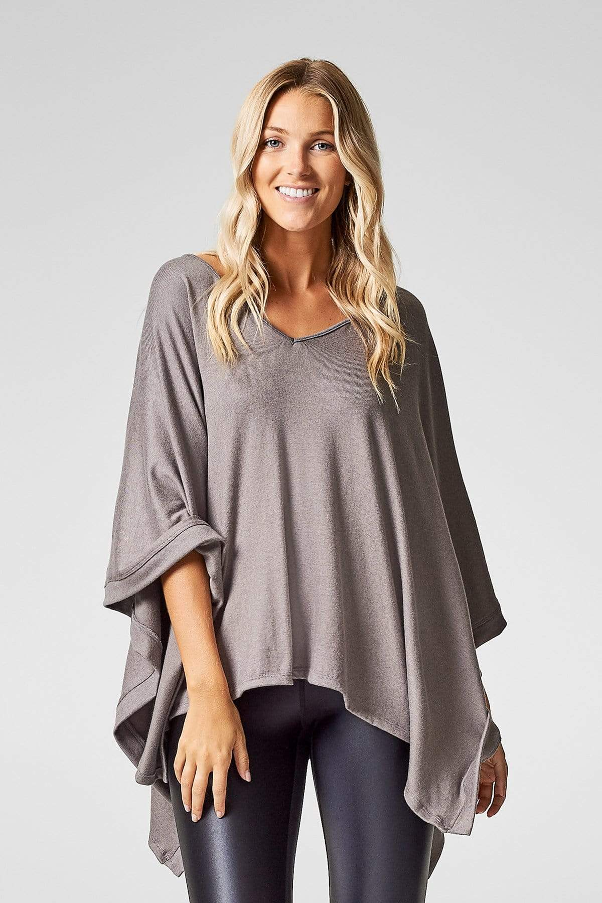 Grace Poncho in Mink