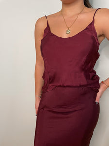 The Cami In Burgundy - Cali Dreaming