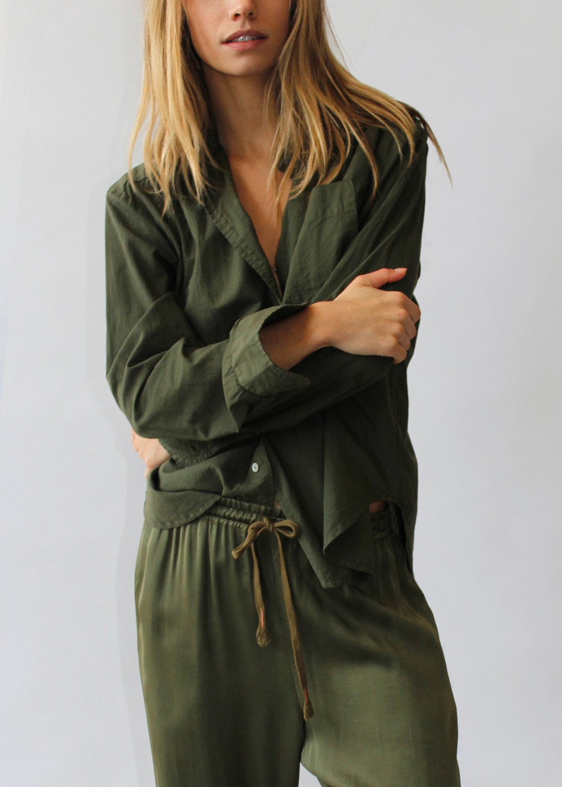 The Ace Shirt in Dark Olive - Cali Dreaming