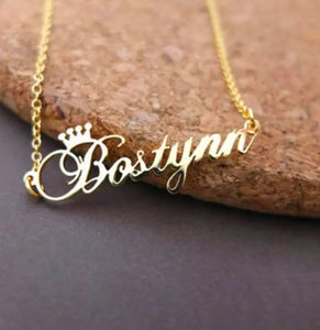 Our Gorgeous Golden-Crown Nameplate Chains are here!