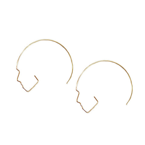 Sleek-Chiq Silhouette Hoops in Gold or Silver