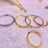 Name-Engraved Personalized Band-style Ring in White, Yellow or Rose Gold