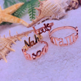 Exquisite Personalized Nameplate Ring in White, Rose or Yellow Gold