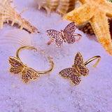 "Elegant Handmade ""Bejeweled Butterfly"" Ring"