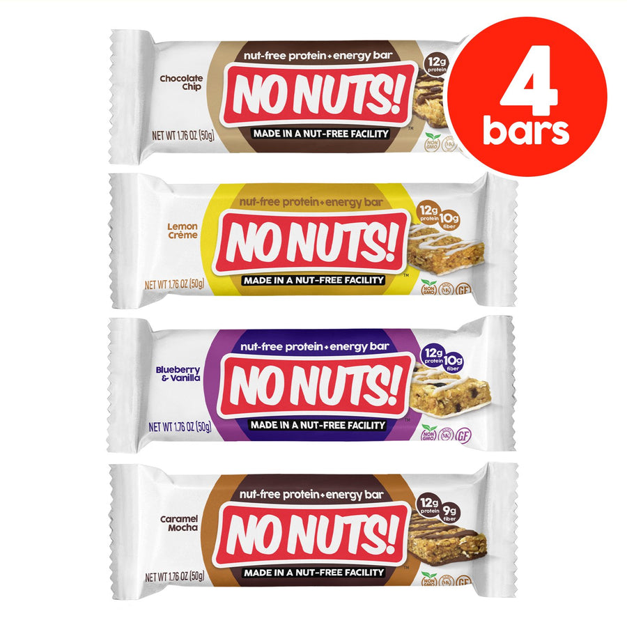 No Nuts! 4-Pack Sampler Pack | 4 NUT-FREE Bars - Nut Free Bars