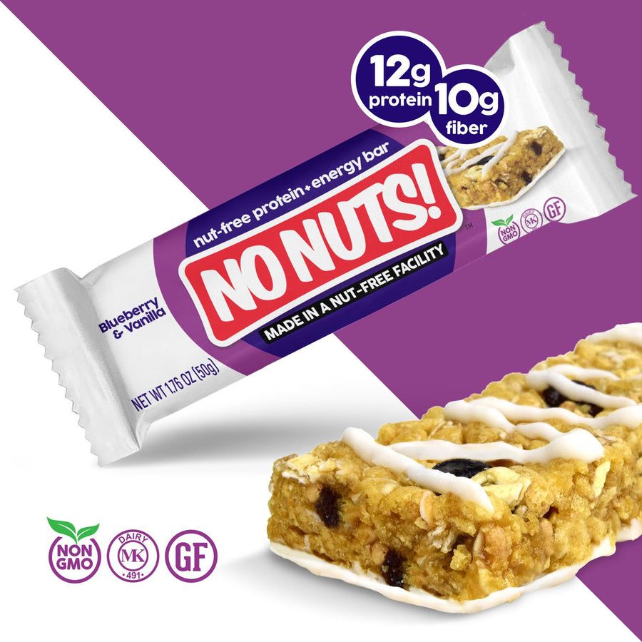 No Nuts! Blueberry & Vanilla Protein Snack Bars - Nut Free Bars - Nut Free Bars