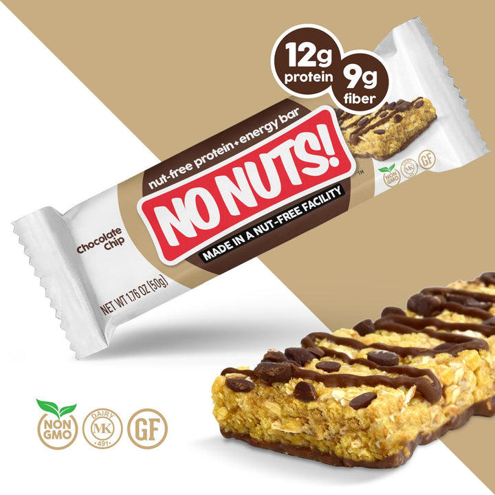 No Nuts! Chocolate Chip Protein Snack Bars - Nut Free - Nut Free Bars
