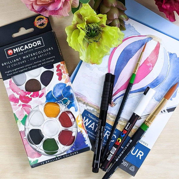 Ros Gervay Creative Art Kit Adults Watercolour Painting Set