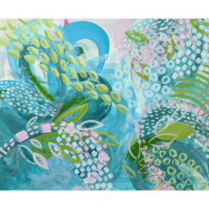 "Ros Gervay Creative Giclee Print 30cmW x 25cmH / Fine Art Print / Unframed with 25mm white border ""A Drop in the Ocean"" Fine Art Print"
