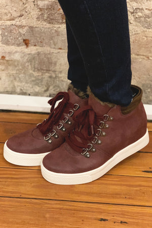 Yolo High-top Boot - Eggplant