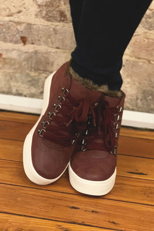 Yolo High-top Boot - Eggplant - Yellow Kiss Boutique