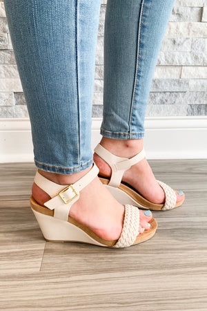 Laney Nude Wedge - Yellow Kiss Boutique