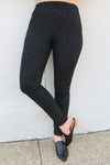 Suede Black Leggings